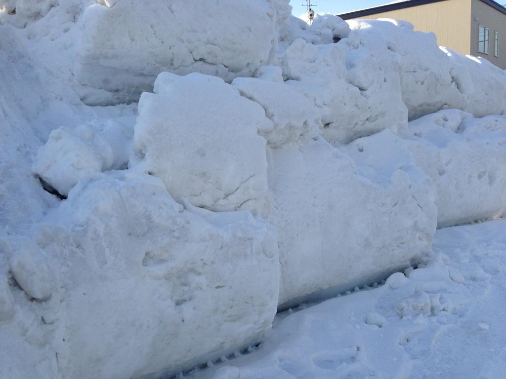 除雪あと……
